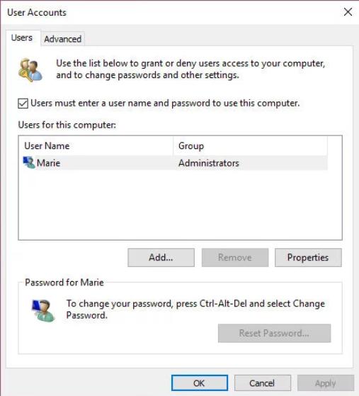 Windows 10 remove password guide