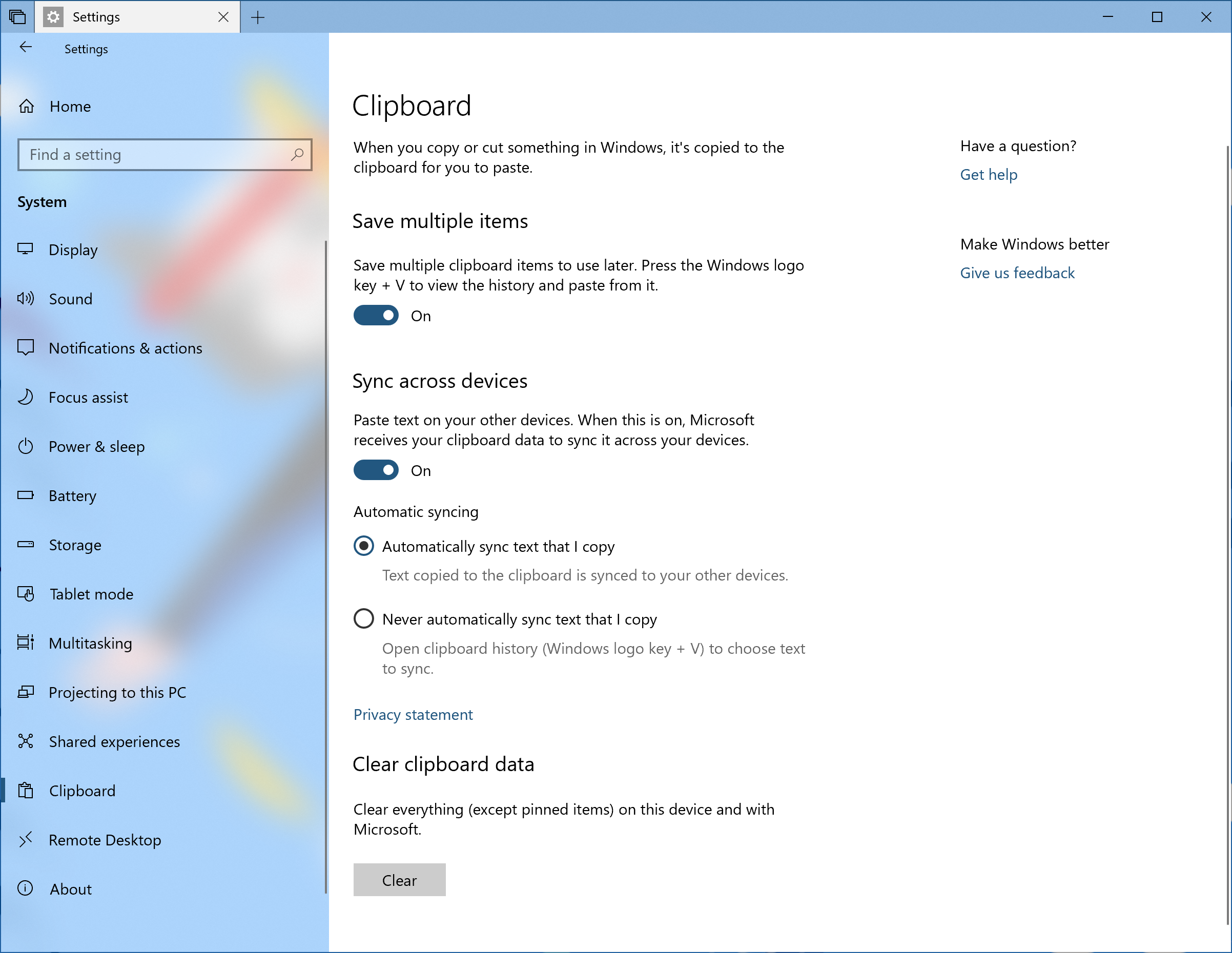 Microsoft's Official Clipboard Manager